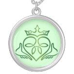 Stylized Claddagh Necklace
