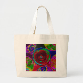 Stylized Coloured Cocktail Shot Glasses Tote Bags