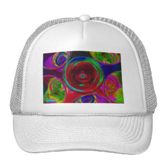 Stylized Coloured Cocktail Shot Glasses Trucker Hat