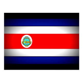 Stylized Costa Rica Flag Postcard