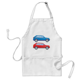 Stylized Crossover SUV vector art Adult Apron