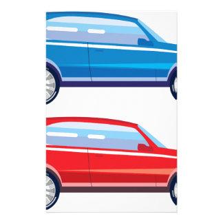 Stylized Crossover SUV vector art Stationery
