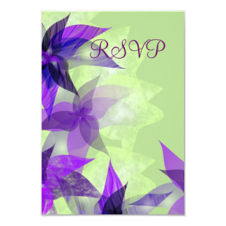 Stylized Daisies Purple RSVP Card