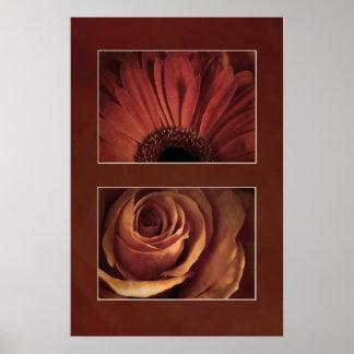 Stylized Daisy Rose Print