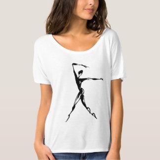 stylized dancing design shirt