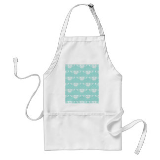 Stylized Deco butterfly  - ice blue Adult Apron
