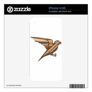 Stylized decorative bird iPhone 4S skin