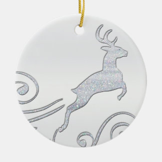 Stylized Deer Christmas Tree Ornaments