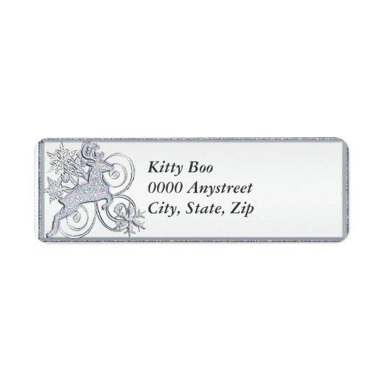 Stylized Deer Label