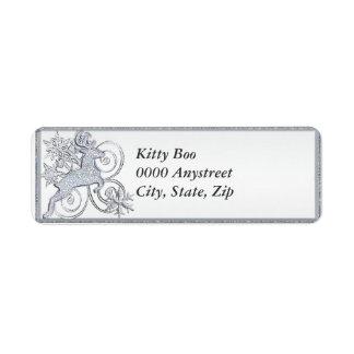 Stylized Deer Return Address Label