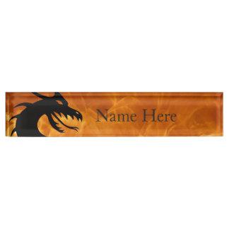 Stylized Dragon Name Plate