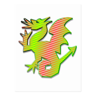 Stylized Dragon Postcard