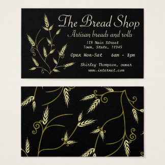 Stylized Elegant Wheat Design Business Card