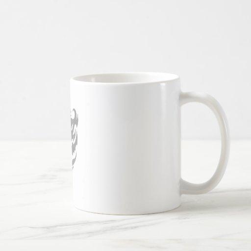 Stylized Emblem Design Coffee Cup