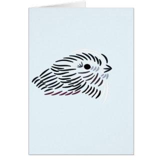 Stylized European Long Tailed Tit - Blank Card