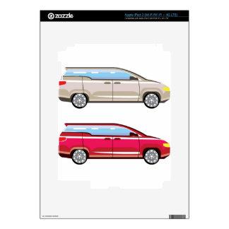 Stylized Family Van Vector iPad 3 Decals