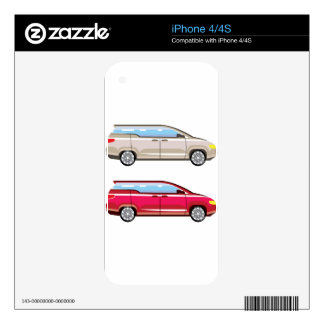 Stylized Family Van Vector iPhone 4 Skins