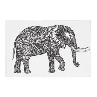 Stylized Fantasy Elephant Doodle Placemat