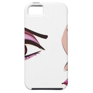 Stylized Female Face iPhone SE/5/5s Case