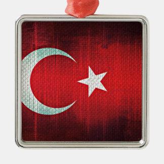 Stylized Flag of Turkey Metal Ornament