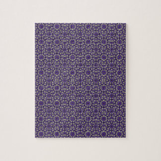 Stylized Floral Check Jigsaw Puzzle
