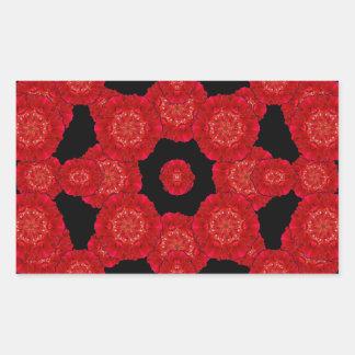 Stylized Floral Check Seamless Pattern Rectangular Sticker