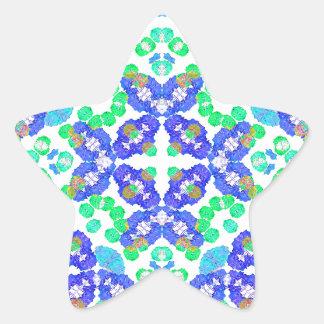 Stylized Floral Check Seamless Pattern Star Sticker