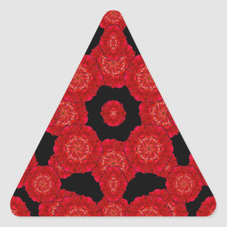 Stylized Floral Check Seamless Pattern Triangle Sticker