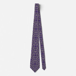 Stylized Floral Check Tie