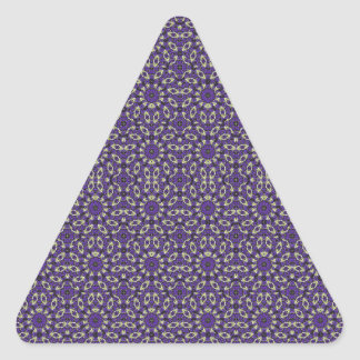 Stylized Floral Check Triangle Sticker