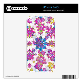 Stylized Floral Ornate Pattern Skins For iPhone 4S