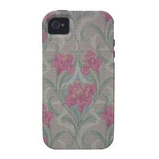 Stylized floral wallpaper 1900-1910 vibe iPhone 4 cases