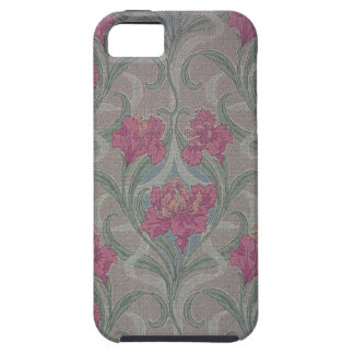 Stylized floral wallpaper, 1900-1910 iPhone SE/5/5s case