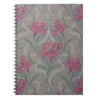 Stylized floral wallpaper, 1900-1910 notebook