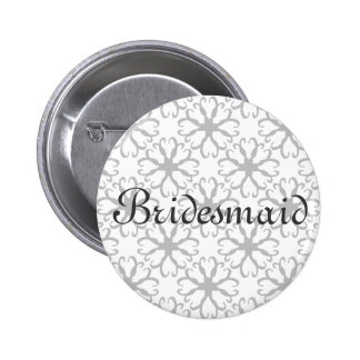 Stylized Flower Bridesmaid Button