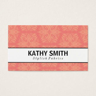 Stylized Flower Pattern | Chic Business Card