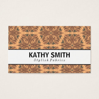 Stylized Flower Pattern II | Chic Business Card