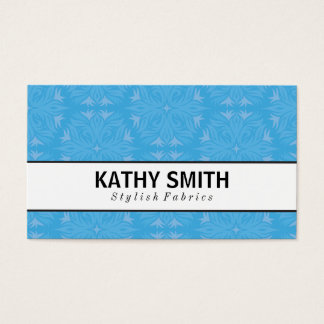Stylized Flower Pattern III | Chic Business Card