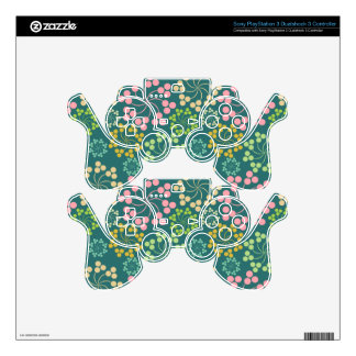 Stylized Flower Pattern PS3 Controller Decals