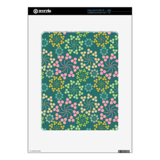 Stylized Flower Pattern Skin For The iPad