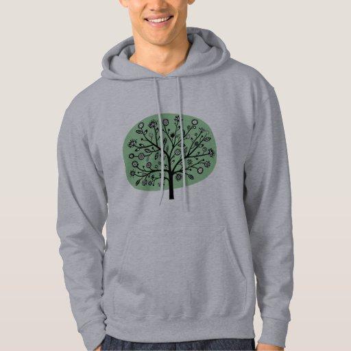 Stylized Flower Tree - Faded Green Sweatshirt