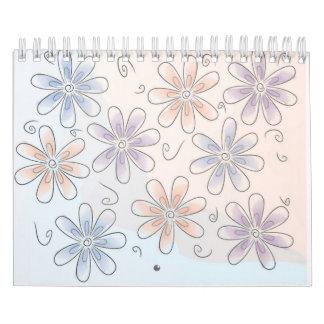 stylized flowers Apt book Calendar