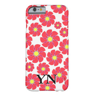 Stylized Flowers Barely There iPhone 6 Case