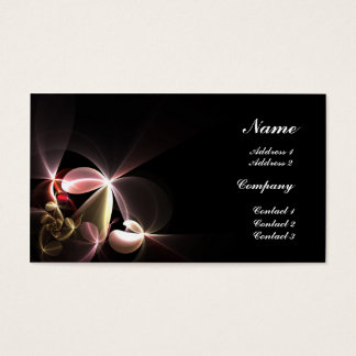 Stylized Flowers Business Card
