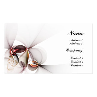 Stylized Flowers Double-Sided Standard Business Cards (Pack Of 100)