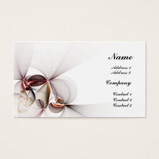 Stylized Flowers Business Card
