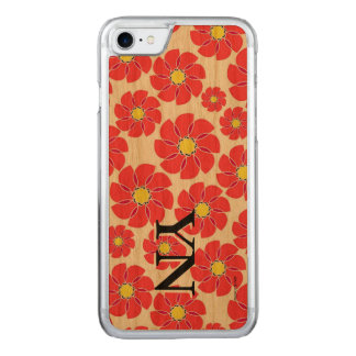 Stylized Flowers Carved iPhone 8/7 Case