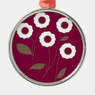Stylized Flowers, on customizable products. Metal Ornament