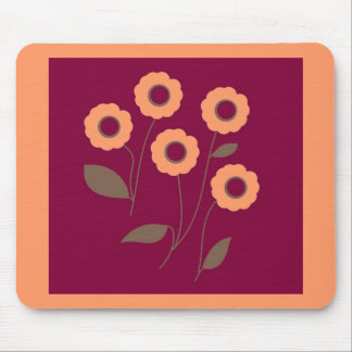 Stylized Flowers, on customizable products. Mouse Pad