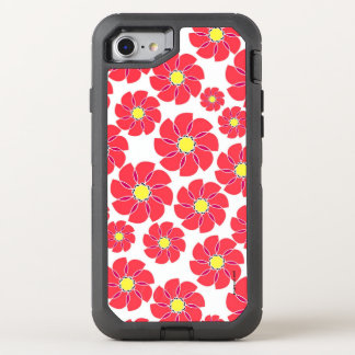 Stylized Flowers OtterBox Defender iPhone 8/7 Case